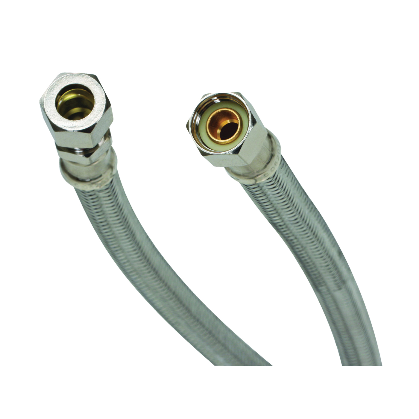 Picture of FLUIDMASTER B8F12 Water Supply Connector, 3/8 in, Compression, Polymer/Stainless Steel