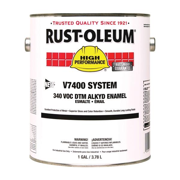 Picture of RUST-OLEUM HIGH PERFORMANCE V7400 System 340 VOC DTM Series 245477 Alkyd Enamel, Orange, 1 gal, Can