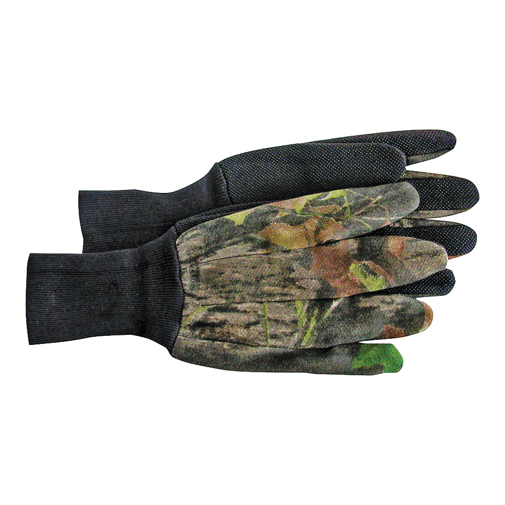 Picture of BOSS 4203MOL Protective Gloves, L, Knit Wrist Cuff, Cotton/Polyester, Camouflage/Mossy Oak