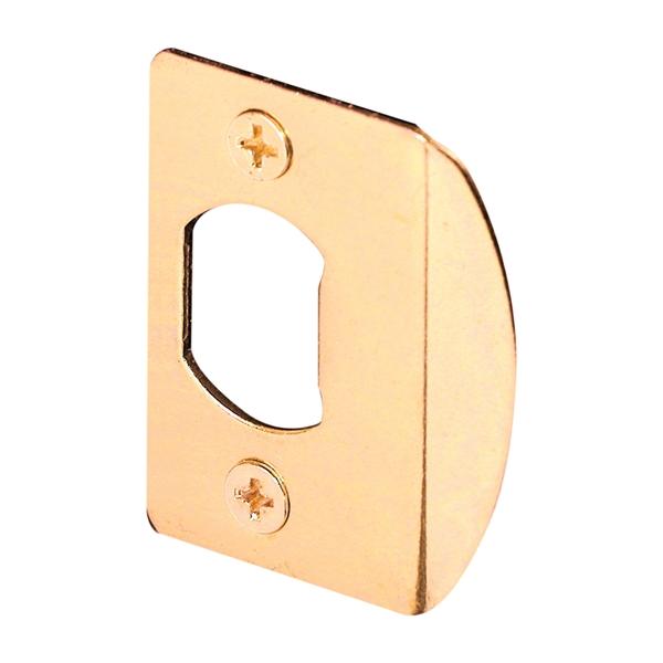 Picture of Defender Security E 2349 Door Strike, 2-1/4 in L, 1-7/16 in W, Steel, Brass