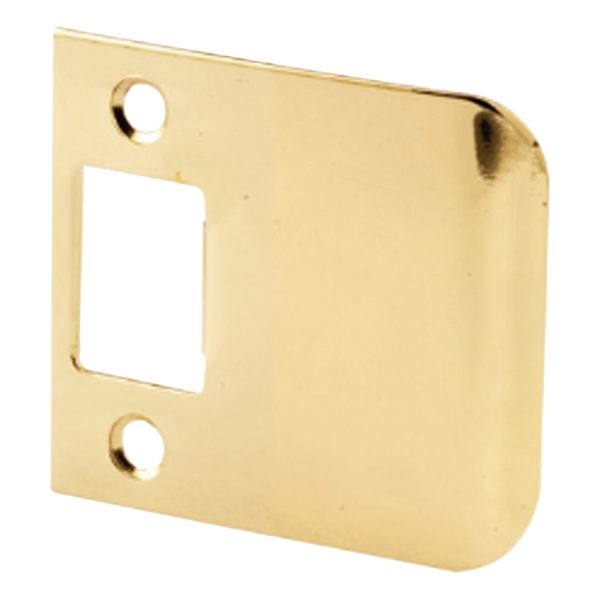 Picture of Defender Security E 2347 Extended Lip Strike, 2-1/4 in L, 2-1/2 in W, Steel, Brass