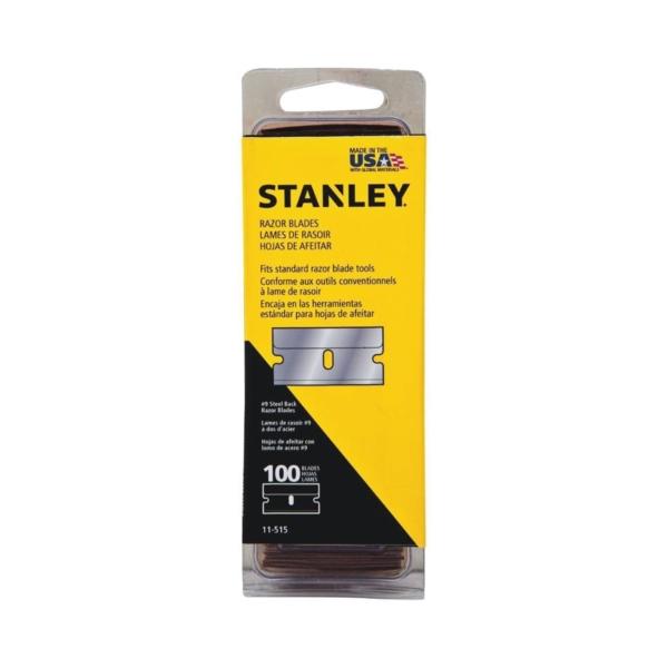 Picture of STANLEY 11-515 Razor Blade, Single-Edge Blade, Steel Blade