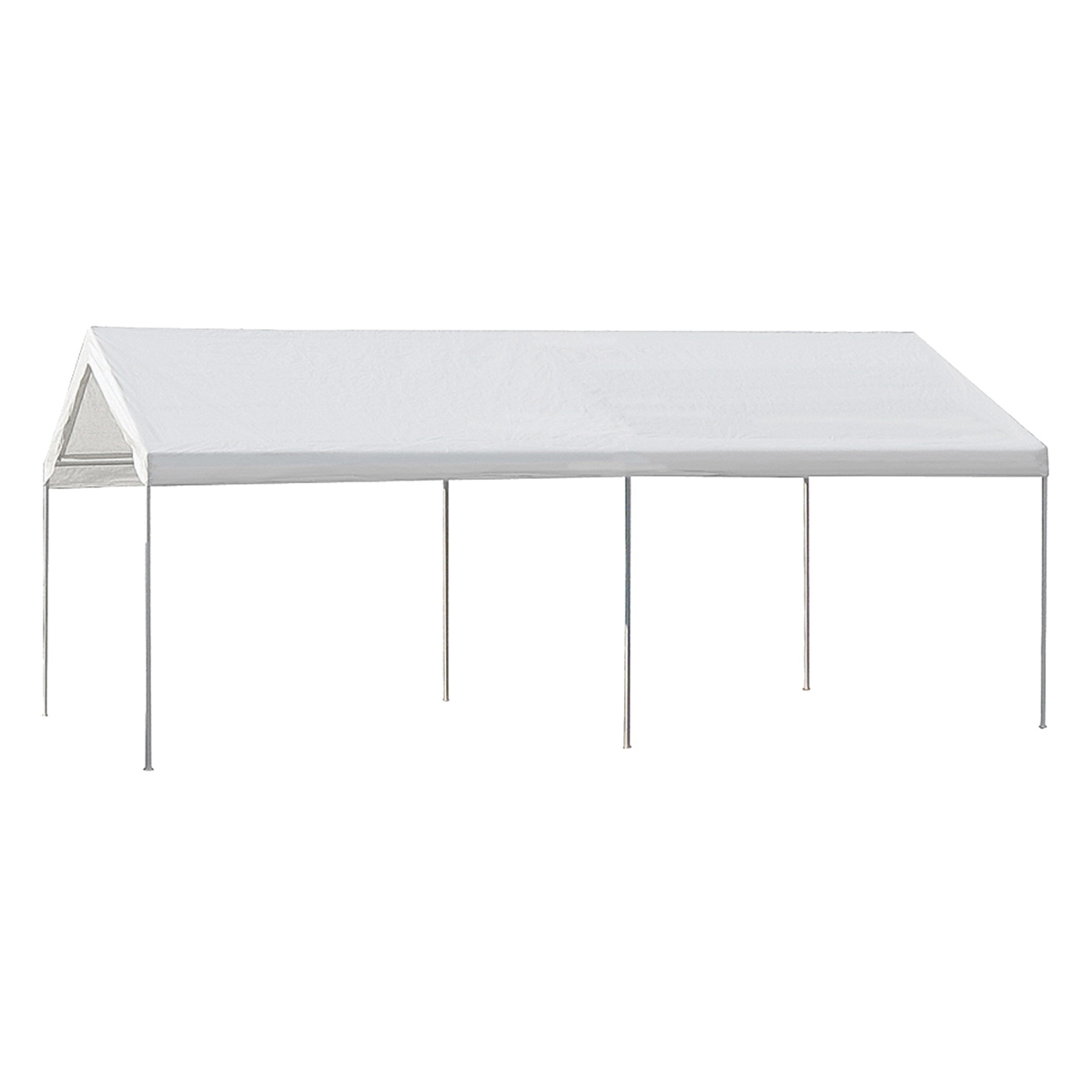Picture of Seasonal Trends 22006200010 Carport, 10 ft L, 20 ft W, 10.3 in H, Steel Frame, Polyethylene Canopy, White Canopy