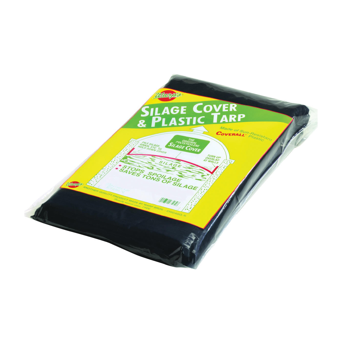 Picture of Warp's SSC-14 Tarpaulin, 14 ft L, 14 ft W, 3 mil Thick, Plastic, Black