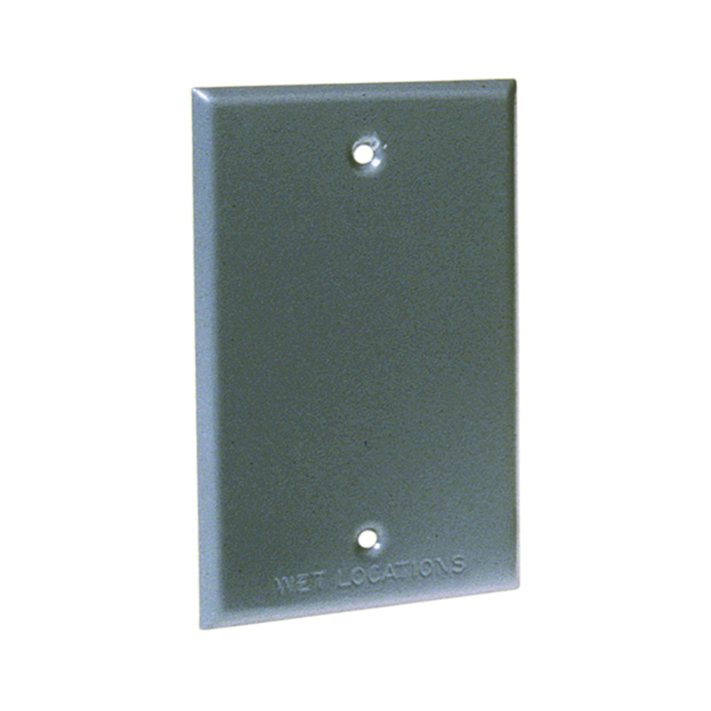 Picture of HUBBELL 5173-5 Cover, 4-17/32 in L, 2-25/32 in W, Metal, Gray, Powder-Coated