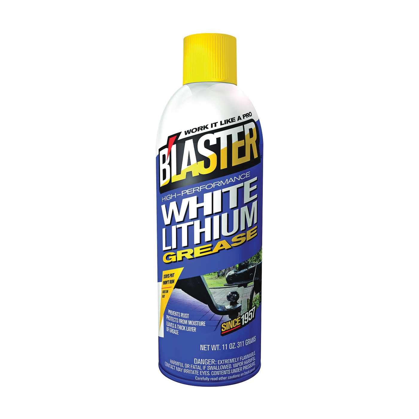 Picture of B'laster 16-LG Grease, 11 oz Package, Can, Fuel, White
