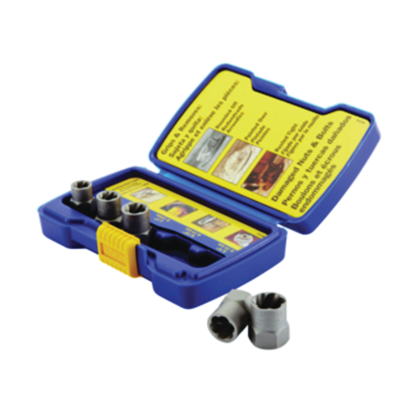 Picture of IRWIN BOLT-GRIP 394001 Bolt Extractor Set, 5 -Piece, HCS, Specifications: Reverse Spiral Flute