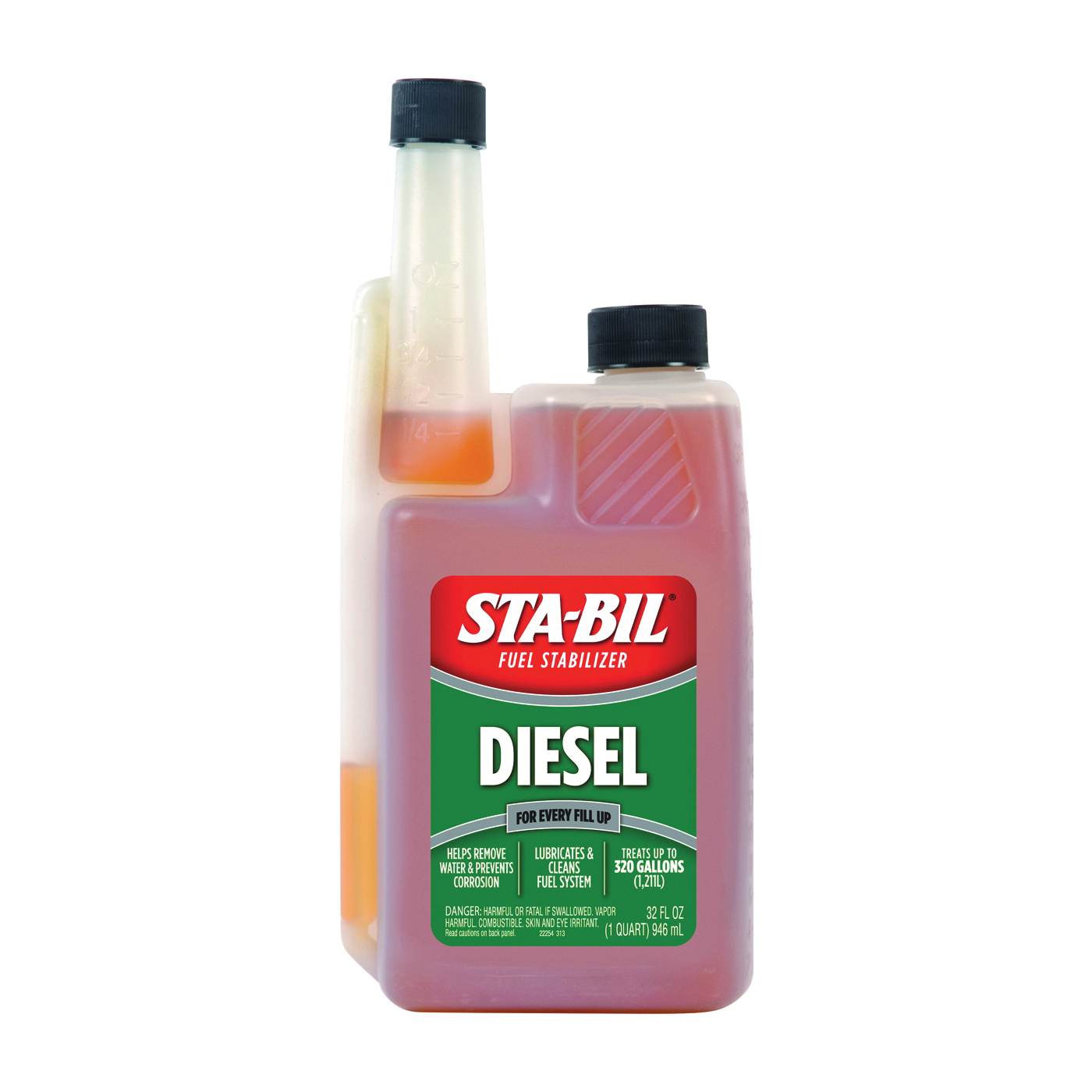 Picture of STA-BIL 22254 Fuel Stabilizer Amber, 32 oz Package, Bottle
