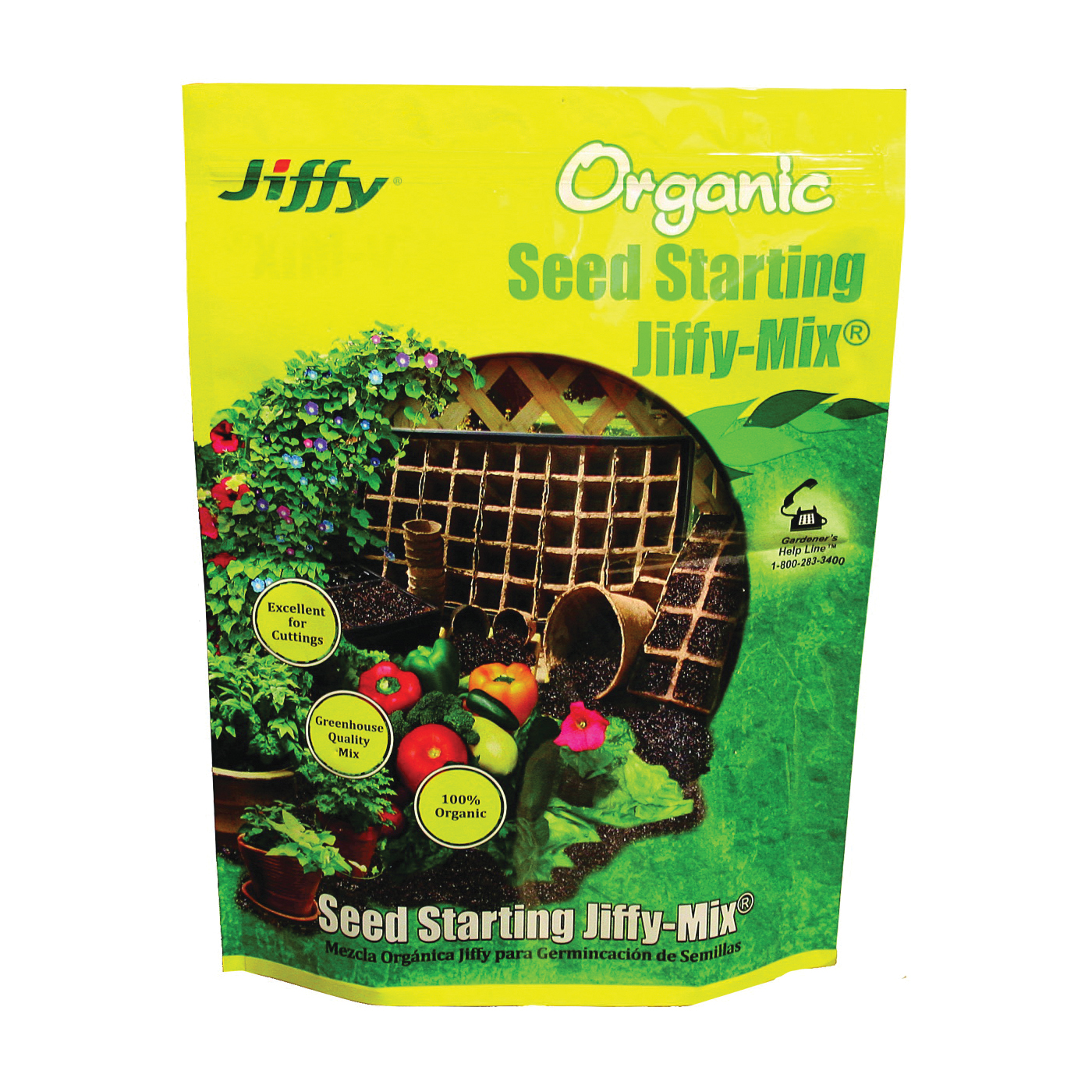 Picture of Jiffy G310 Seed Starter Mix, 10 qt Package, Bag