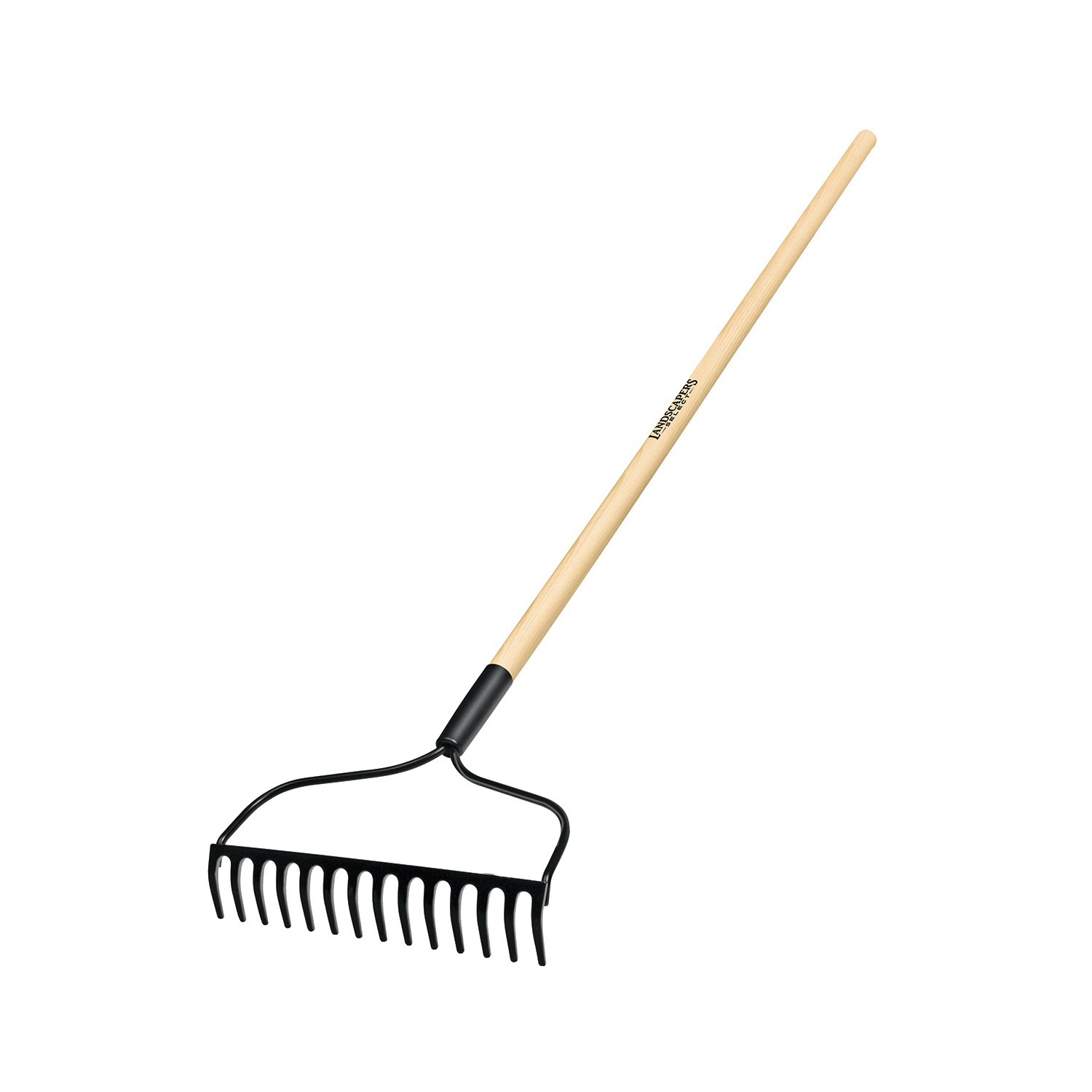 Picture of Landscapers Select 34584 R14AL Bow Rake, 13.5 in W Head, 14 -Tine, Steel Tine, 48 in L Handle