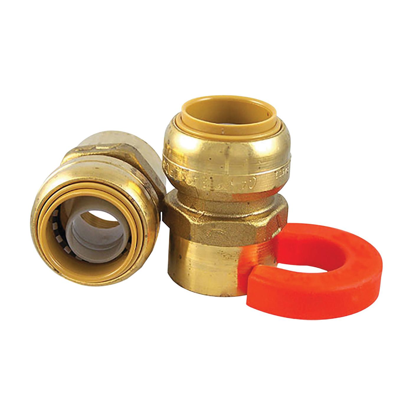 Picture of SharkBite 22441LF Water Heater Installation Kit, Push-Fit, Brass