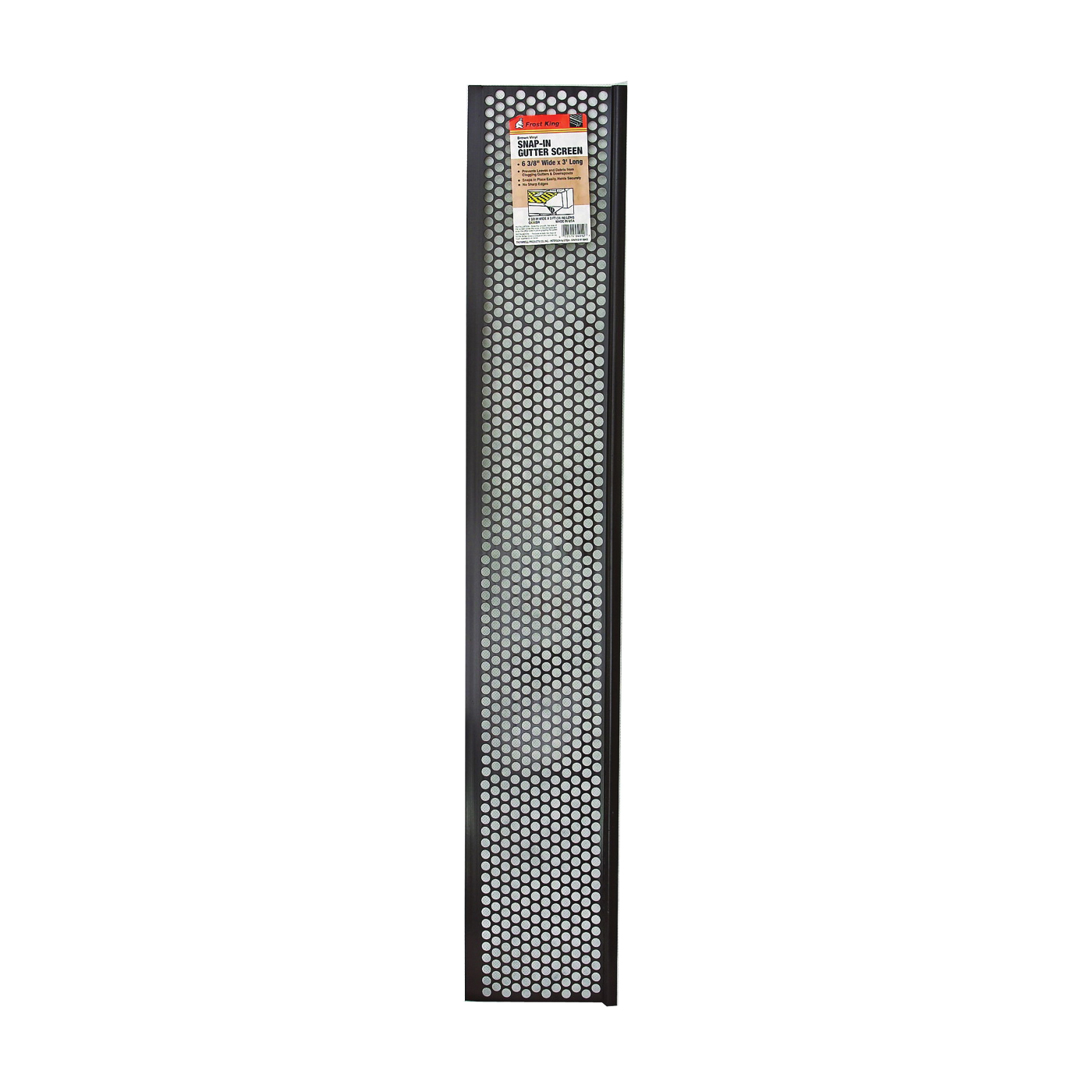 Picture of Frost King G636BR Gutter Screen, 3 ft L, 6-5/8 in W, Vinyl, Brown