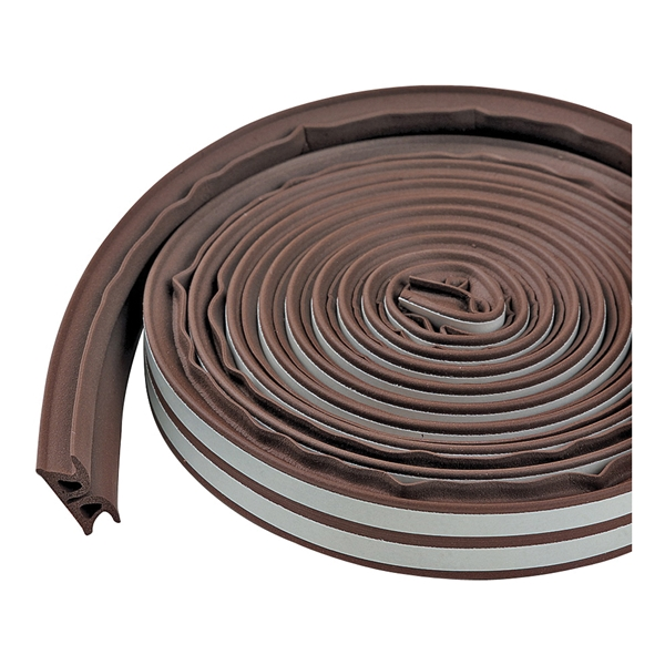 Picture of M-D 43848 Weatherstrip Tape, 3/8 in W, 17 ft L, EPDM/Silicone, Brown