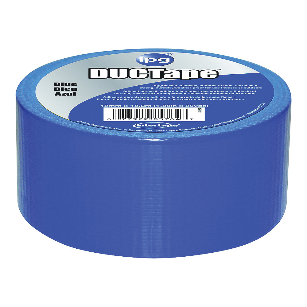 Picture of IPG 6720BLU Duct Tape, 20 yd L, 1.88 in W, Polyethylene-Coated Cloth Backing, Blue
