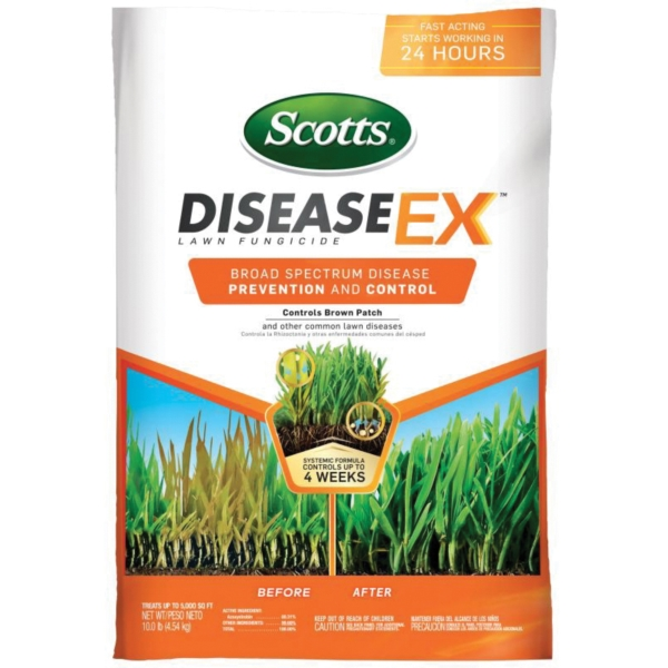 Picture of Scotts 7676182 DiseaseEx 37610 Lawn Fungicide, Solid, Brown, 10 lb Package, Bag