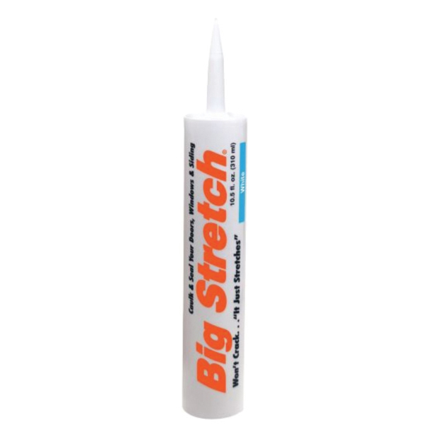 Picture of Big Stretch 10010 Caulk, Gray, 4 to 5 days Curing, 40 to 120 deg F, 10.5 oz Package, Cartridge