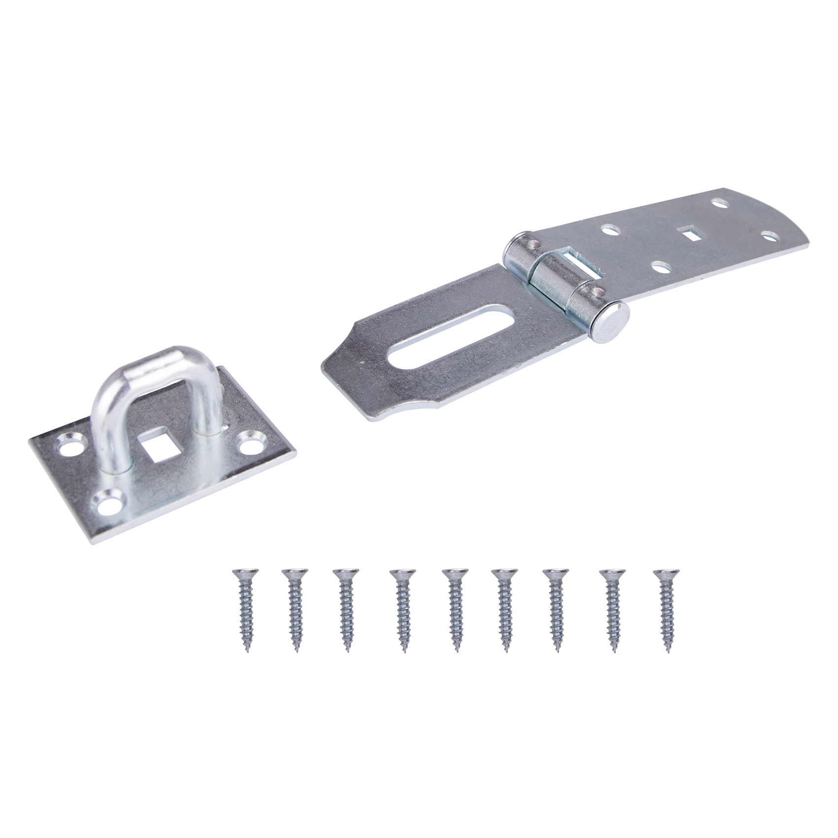 Picture of ProSource LR-137-BC3L-PS Safety Hasp, 4-1/2 in L, Steel, Zinc