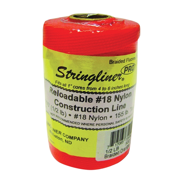 Picture of Stringliner Pro Series 35459 Construction Line, #18 Dia, 500 ft L, 165 lb Working Load, Nylon, Fluorescent Orange