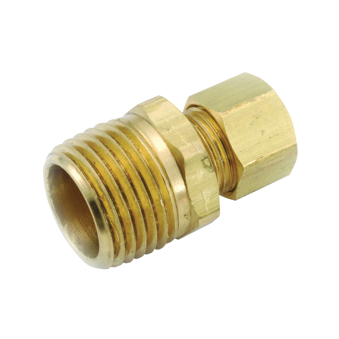 Picture of Anderson Metals 750068-0602 Connector, 3/8 in Compression, 1/8 in MPT