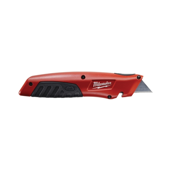 Picture of Milwaukee 48-22-1510 Utility Knife, 1 in L Blade, Metal Blade, Straight Handle, Black/Red Handle