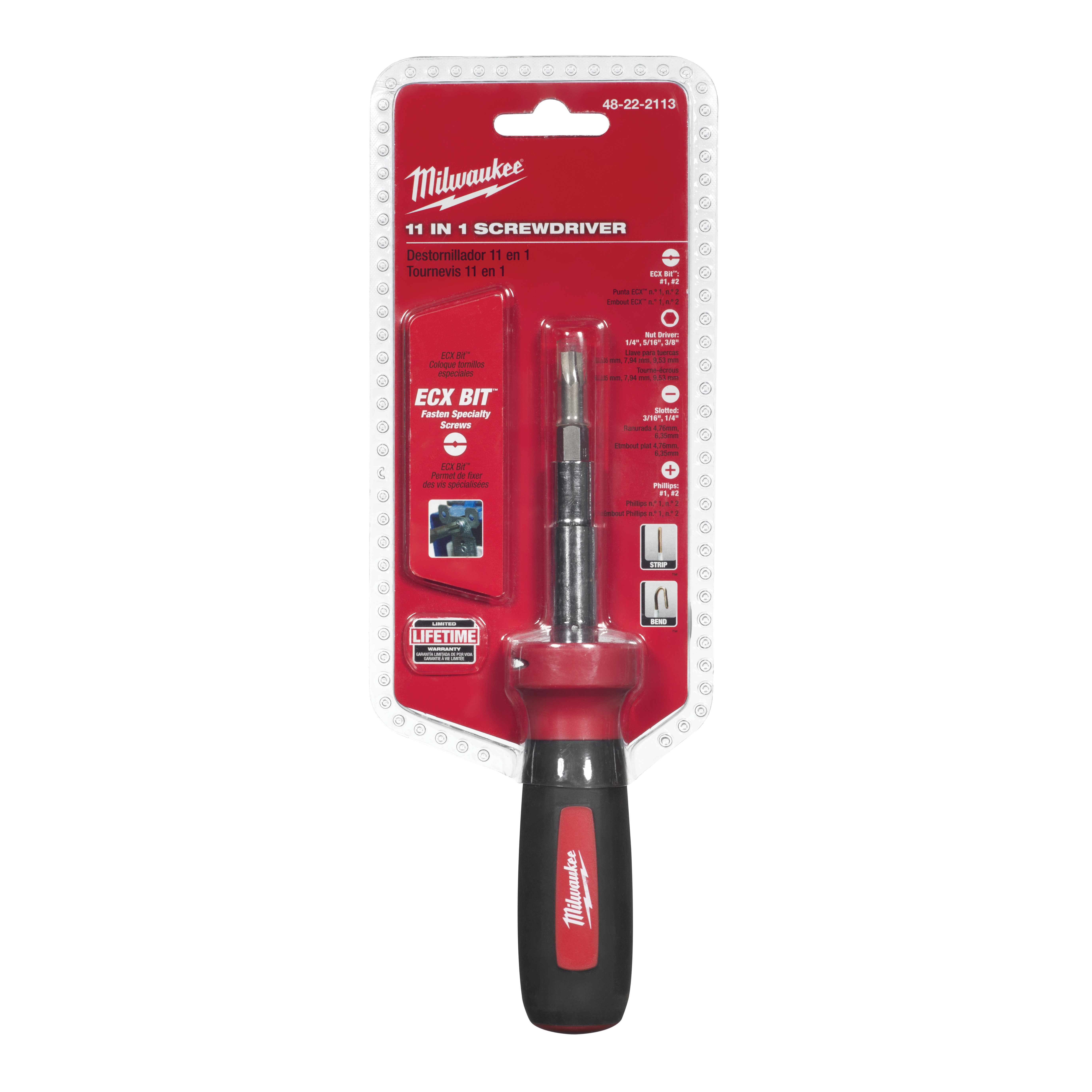 Picture of Milwaukee 48-22-2760 Screwdriver, Rubber Handle