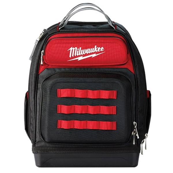 Picture of Milwaukee 48-22-8201 Ultimate Jobsite Backpack, 18 in W, 9.44 in D, 20.4 in H, 48 -Pocket, Polyester, Red