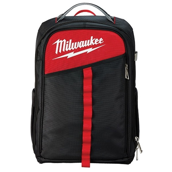 Picture of Milwaukee 48-22-8202 Backpack, 11.8 in W, 7.87 in D, 19.6 in H, 22 -Pocket, Black/Red