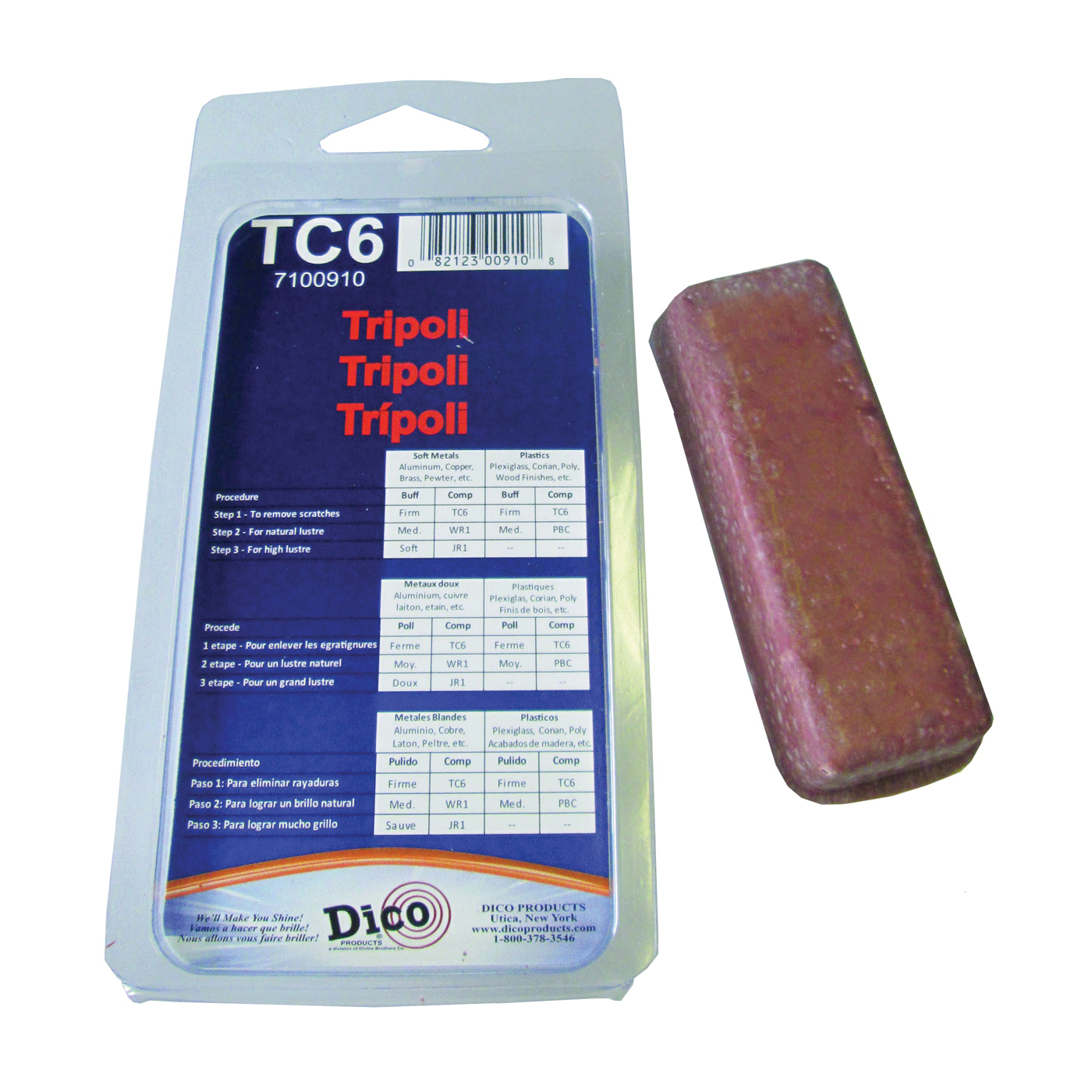 Picture of Dico 7100910 Buffing Compound, Tripoli, Brown