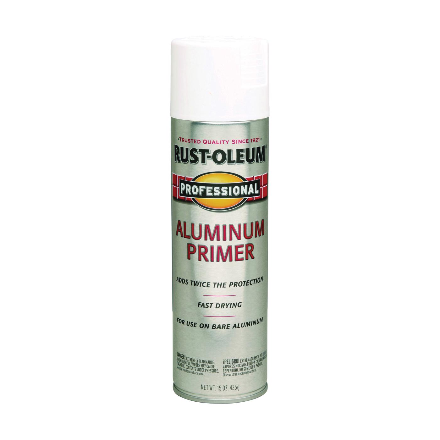 Picture of RUST-OLEUM PROFESSIONAL 254170 Primer Spray, Aluminum, Flat/Matte, 15 oz