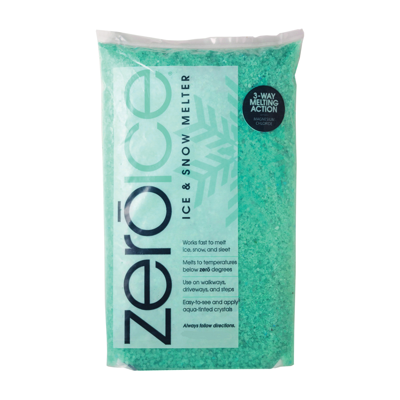 Picture of HJ Zero Ice 9529 Ice Melter, Granular, Aqua/White, 10 lb Package, Bag