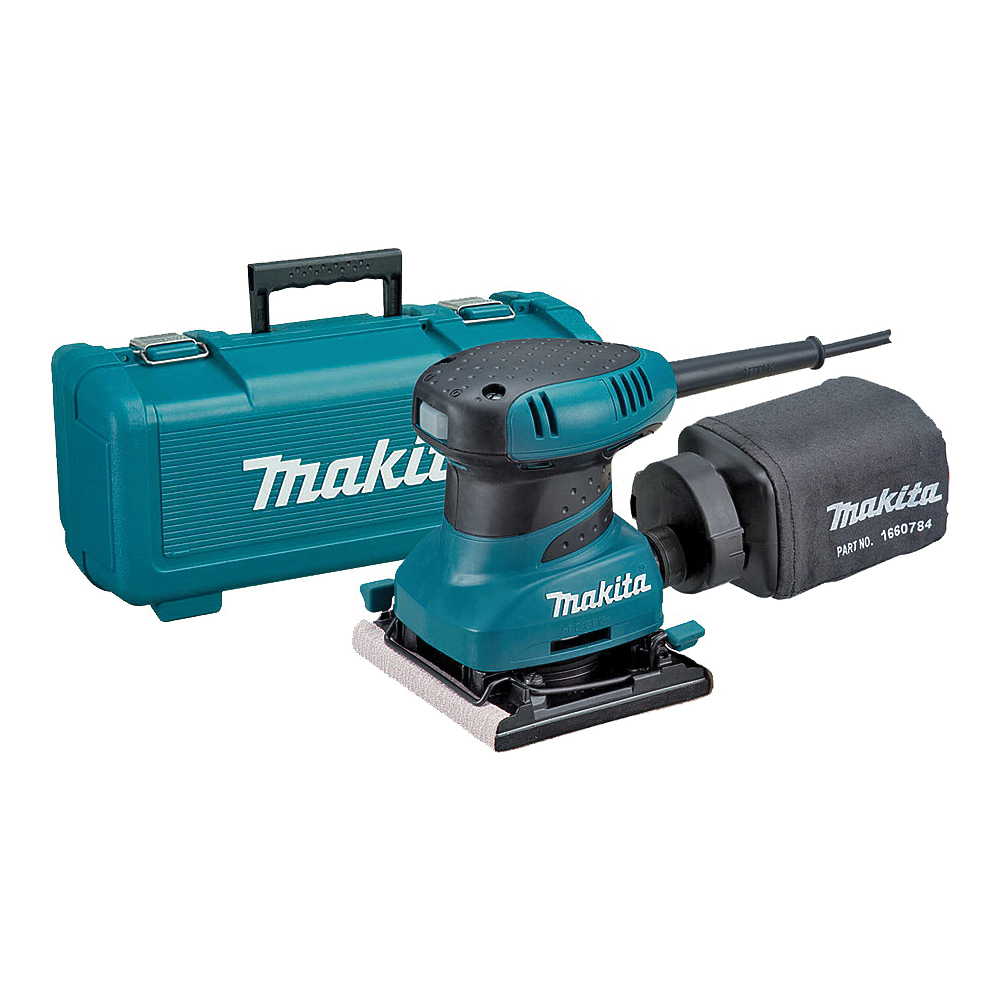 Picture of Makita BO4556K Finish Sander, 120 V, 2 A, 4-1/2 x 4 in Pad, 14000 opm No Load