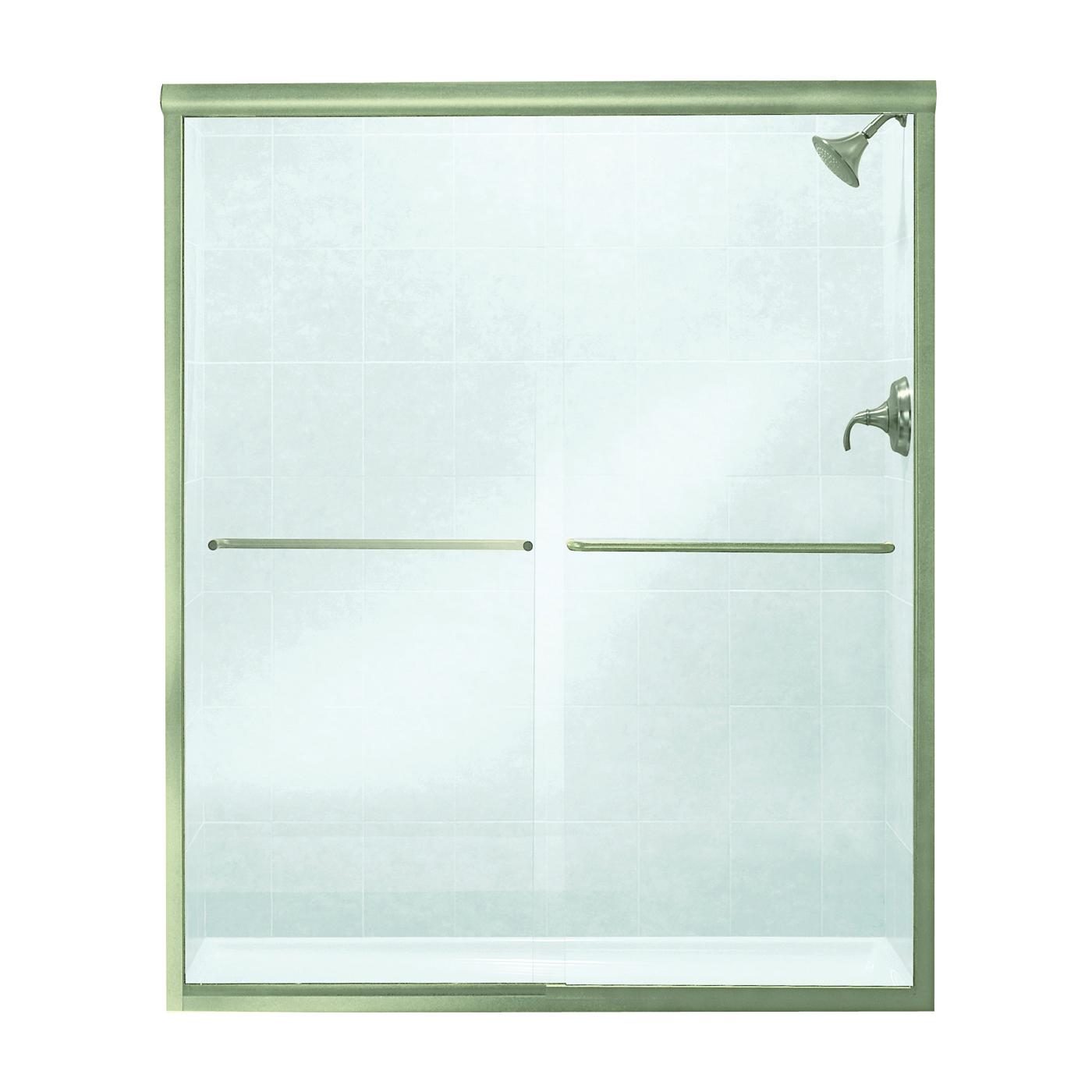Picture of Sterling 5475-59N-G05 Shower Door, Clear Glass, Tempered Glass, Frameless Frame, Aluminum Frame, Stainless Steel