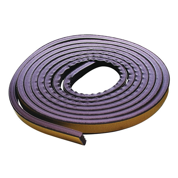 Picture of M-D 02550 Weatherstrip Tape, 3/8 in W, 17 ft L, EPDM Rubber, Brown