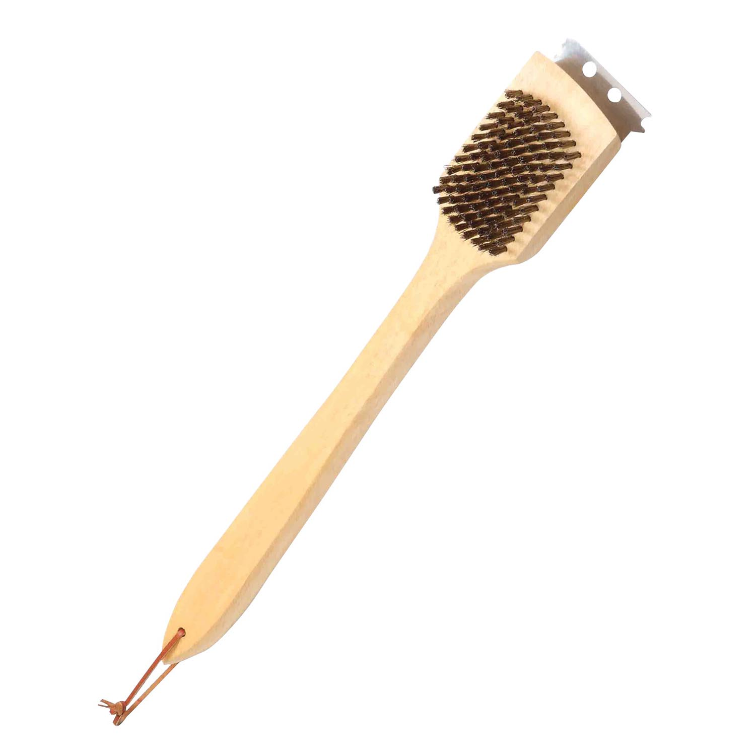 Picture of Omaha SP2483L Grill Brush, 3-1/4 in L Brush, 2 in W Brush, Stainless Steel Bristle, Stainless Steel Bristle, 18 L