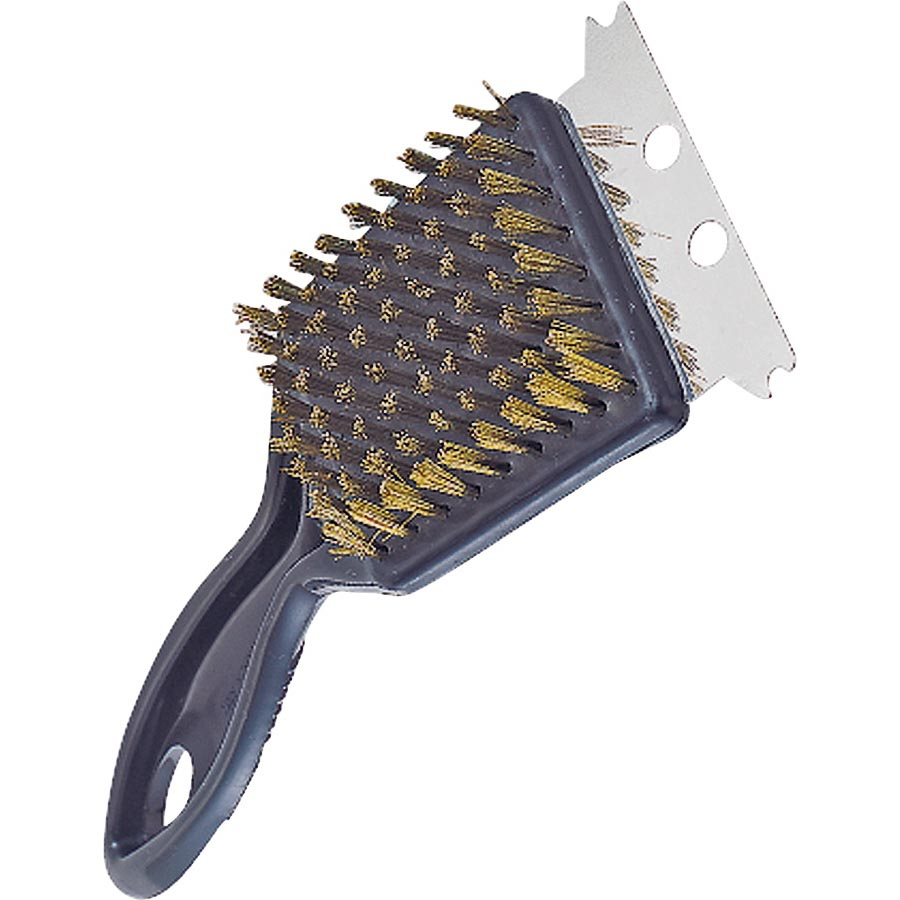 Picture of Omaha SP2403L Grill Brush with Stainless Steel Scraper, 2-1/4 in L Brush, 2-1/4 in W Brush, Stainless Steel Bristle