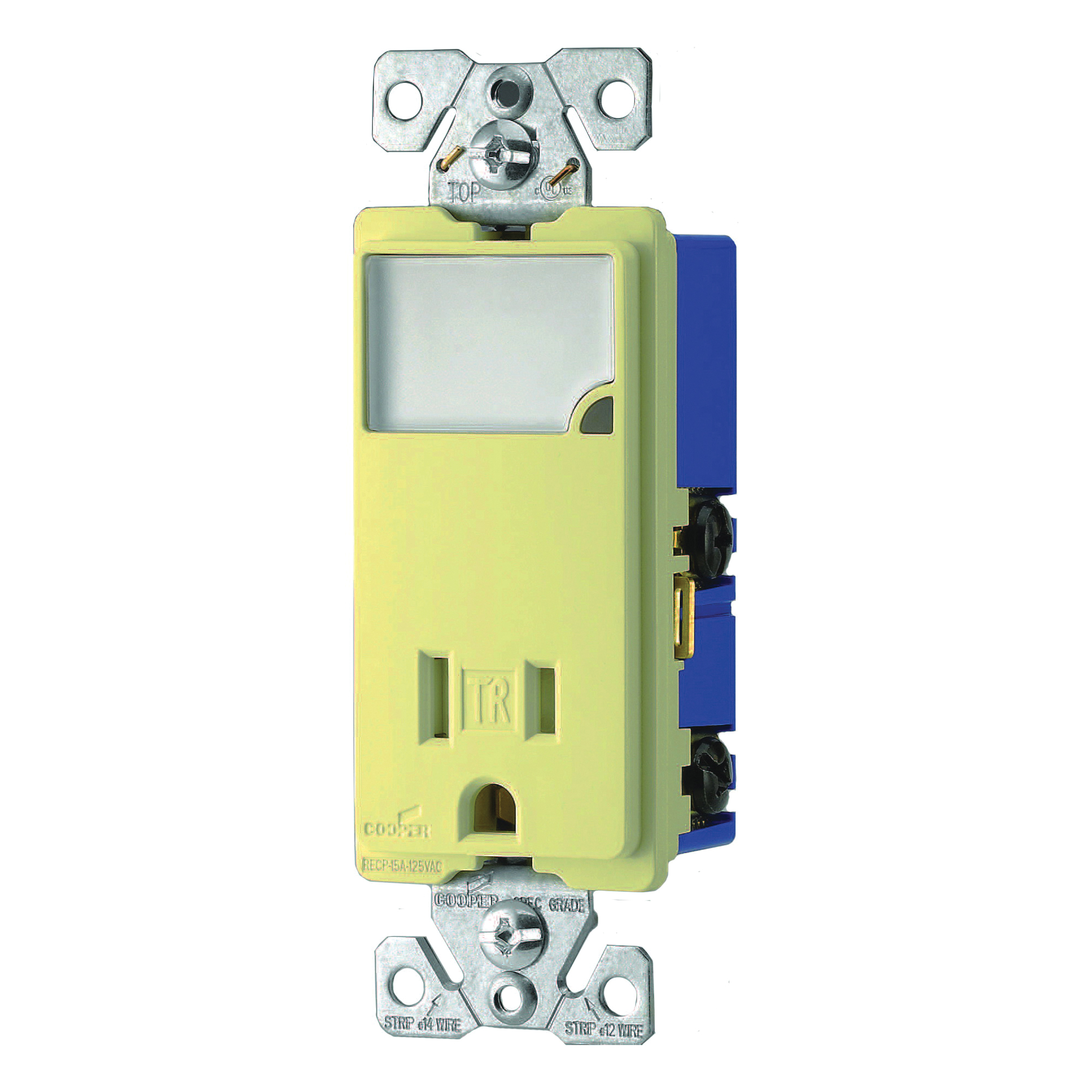 Picture of Eaton Cooper Wiring TR7735V-BOX LED Wall Box Nightlight Combination, 1-Pole, 15 A, 125 V, Ivory
