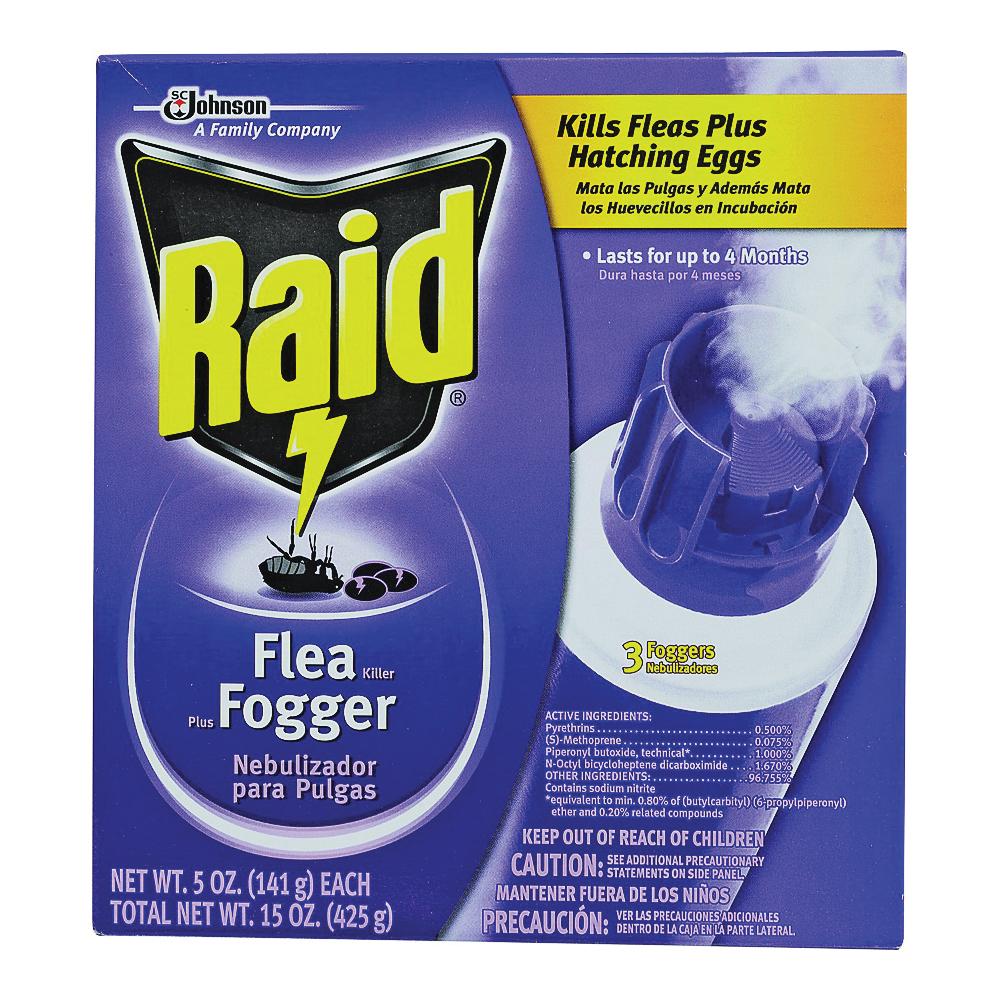 Picture of RAID 41654 Flea Killer Plus Fogger, 3840 cu-ft Coverage Area, Clear