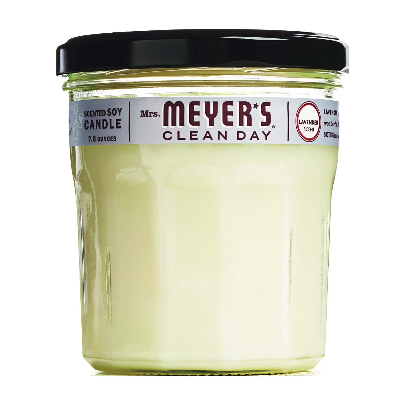 Picture of Mrs. Meyer's 41116 Soy Candle, Lavender Fragrance, White Candle, 35 hr Burning