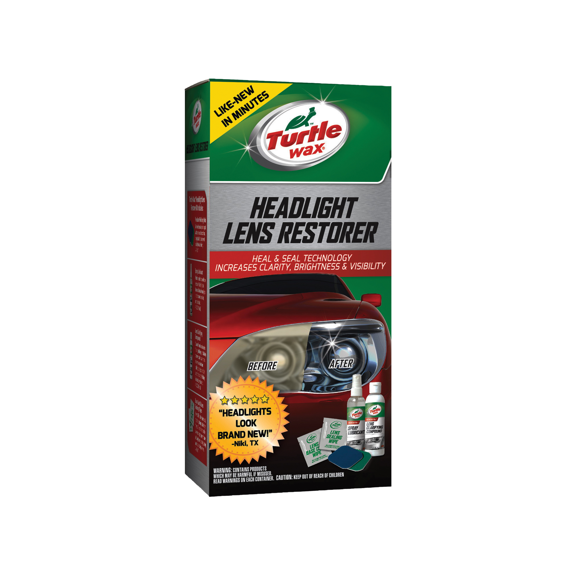 Picture of Turtle Wax T240KT Headlight Lens Restore Kit