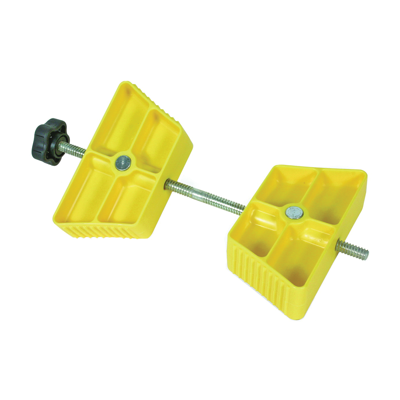 Picture of CAMCO 44622 Wheel Stop Chock, Plastic, Yellow, For: 26 to 30 in Dia Tires with Spacing of 3-1/2 to 5-1/2 in
