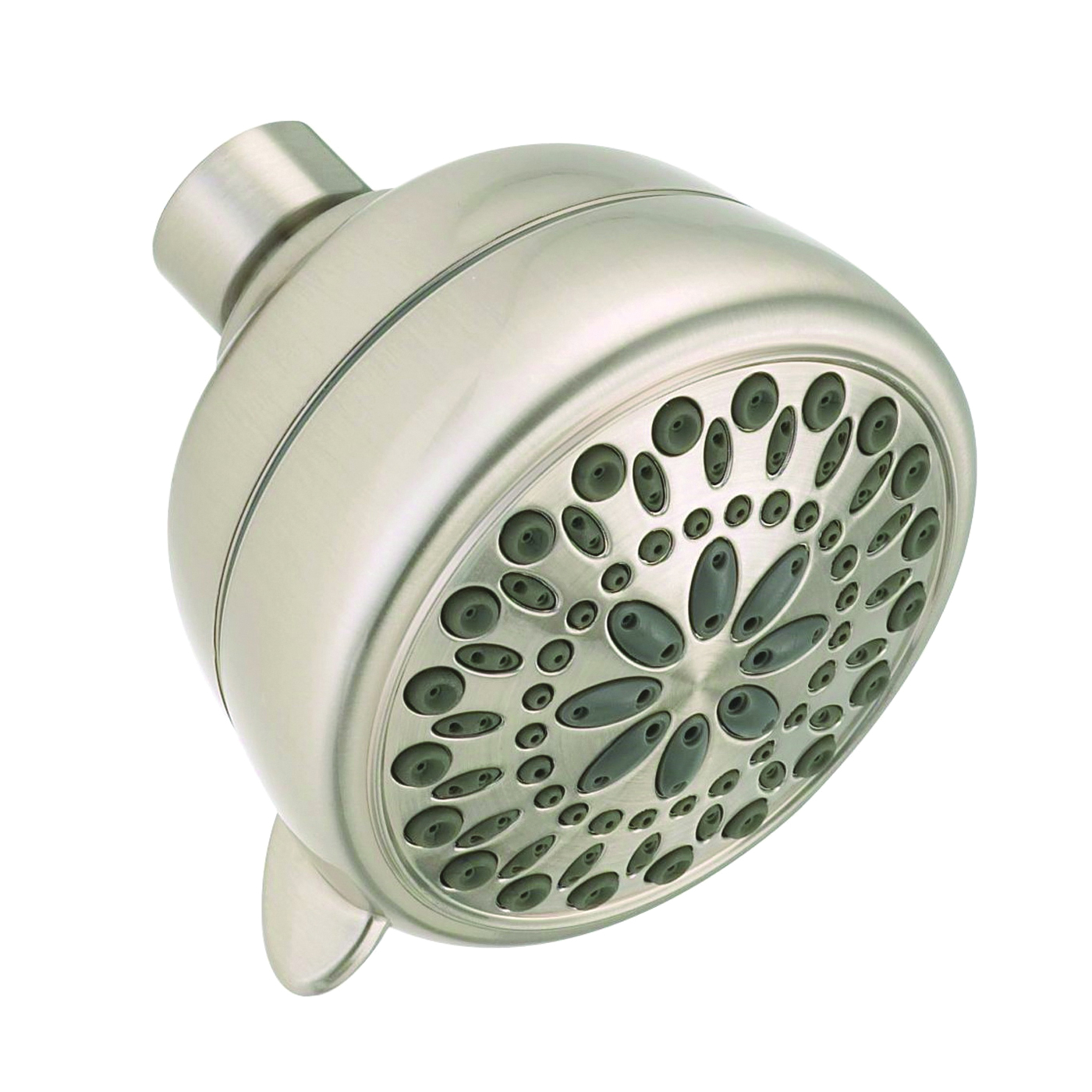 Picture of DELTA 75763SN Shower Head, 2 gpm, 1/2 in Connection, IPS, ABS, Satin Nickel, 3-3/8 in Dia