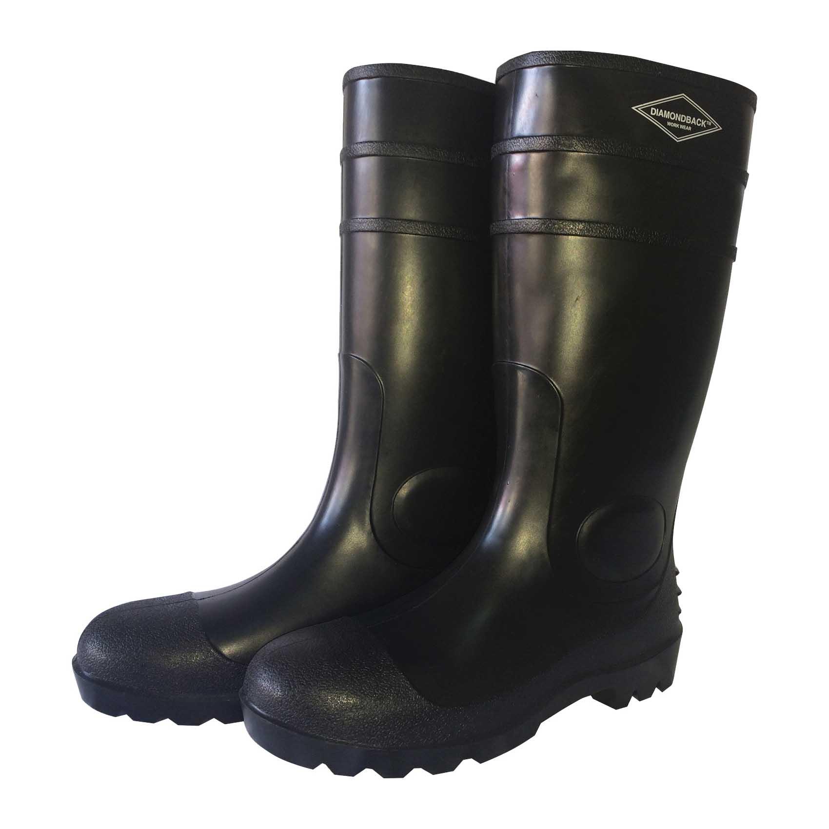 Picture of Diamondback L-G06B-10 Knee Boots, 10, Black, PVC Upper