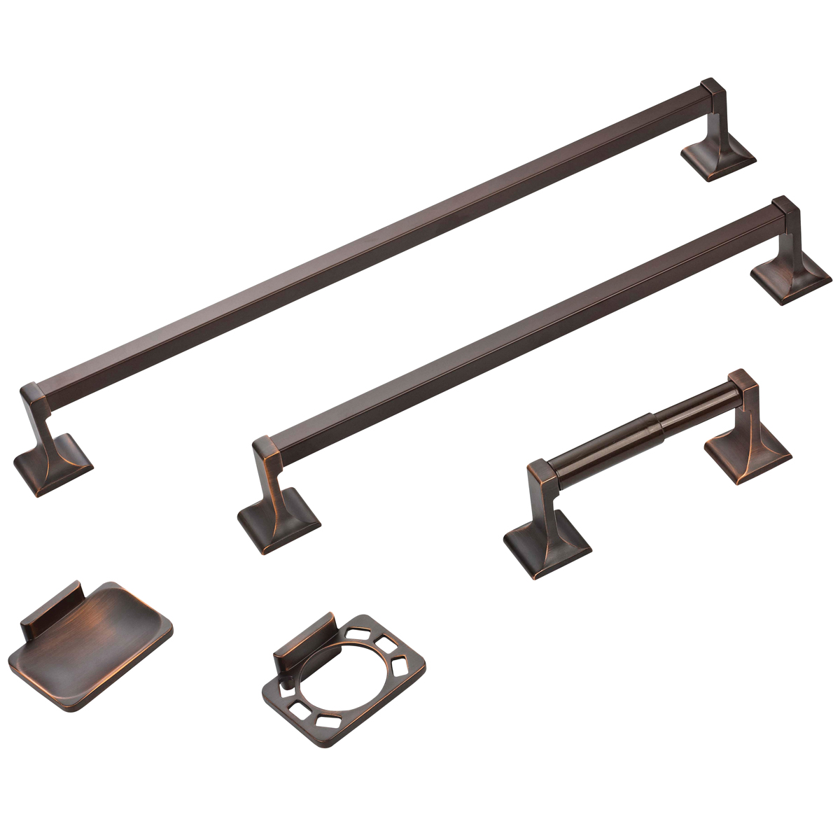Picture of Boston Harbor 07-SOU-VB Bathroom Accessory Set, Venetian Bronze, Venetian Bronze, 5-Piece, For: Bathroom