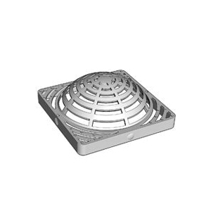 Picture of DrainTech 0903SDG Atrium Grate, 9 in L, 9 in W, Square, 1/4 in Grate Opening, Polyethylene, Green