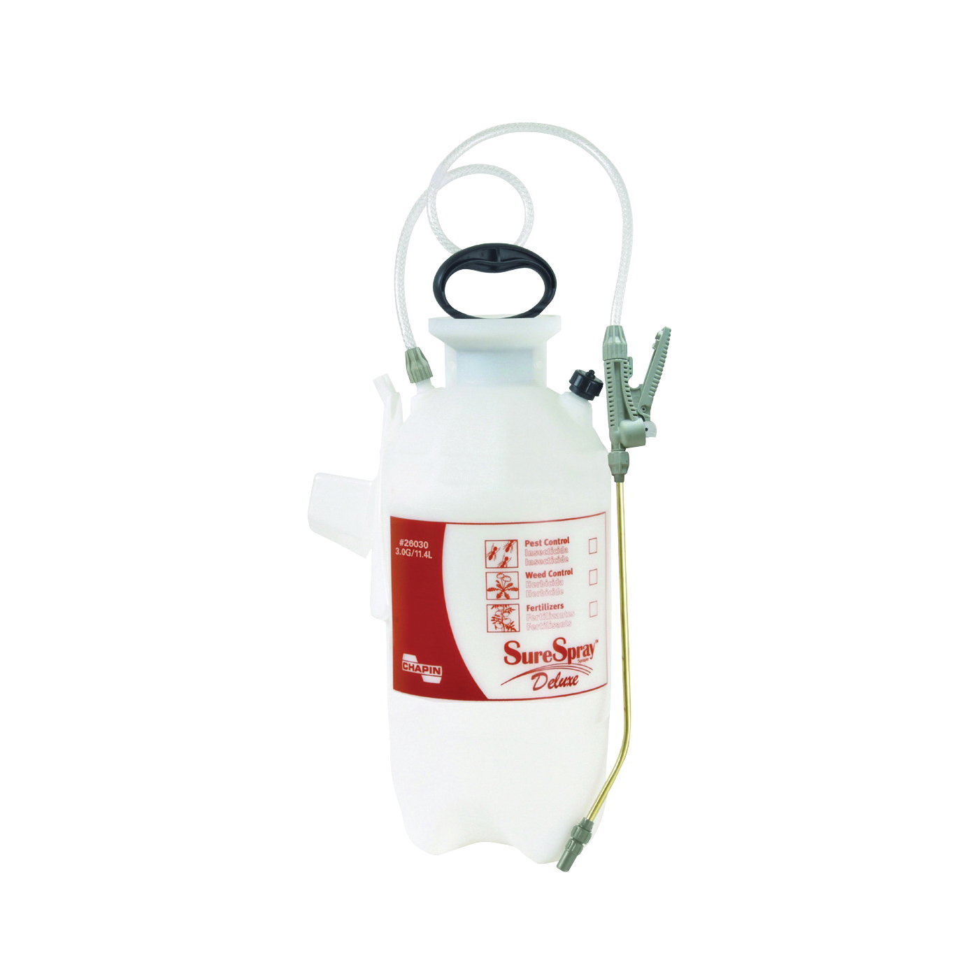 Picture of CHAPIN SureSpray 26030 Compression Sprayer, 3 gal Tank, Poly Tank, 34 in L Hose