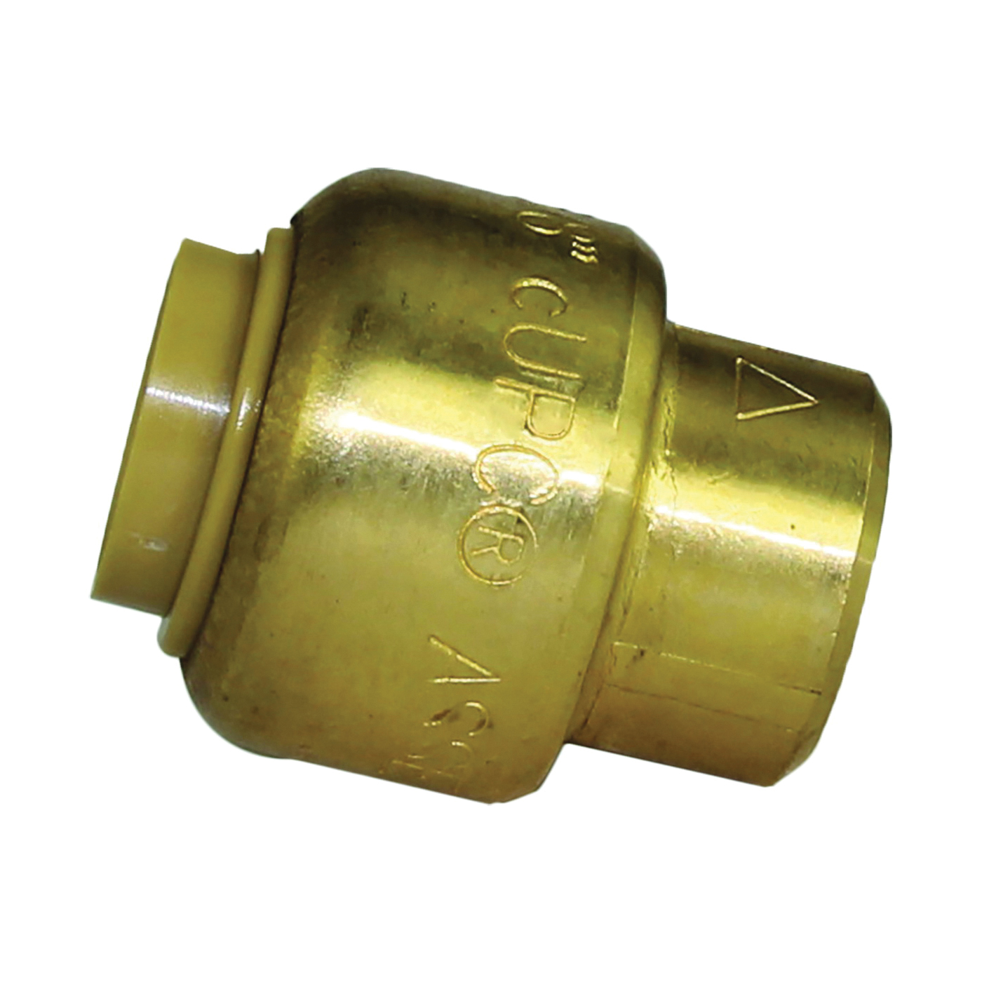 Picture of SharkBite U512LFA End Cap, 3/8 in, Brass, Chrome, 200 psi Pressure