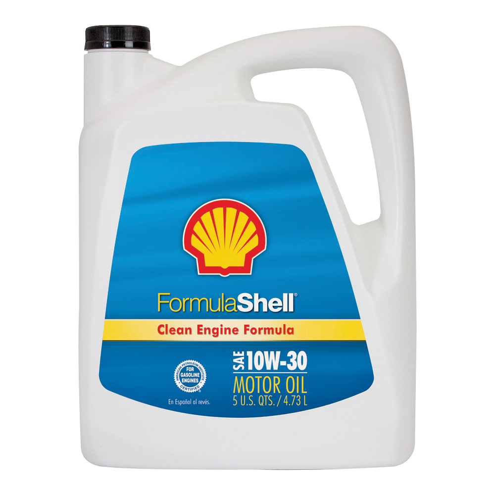 Picture of Formula Shell Clean Engine 550045249 Motor Oil, 10W-30, 5 qt Package, Bottle