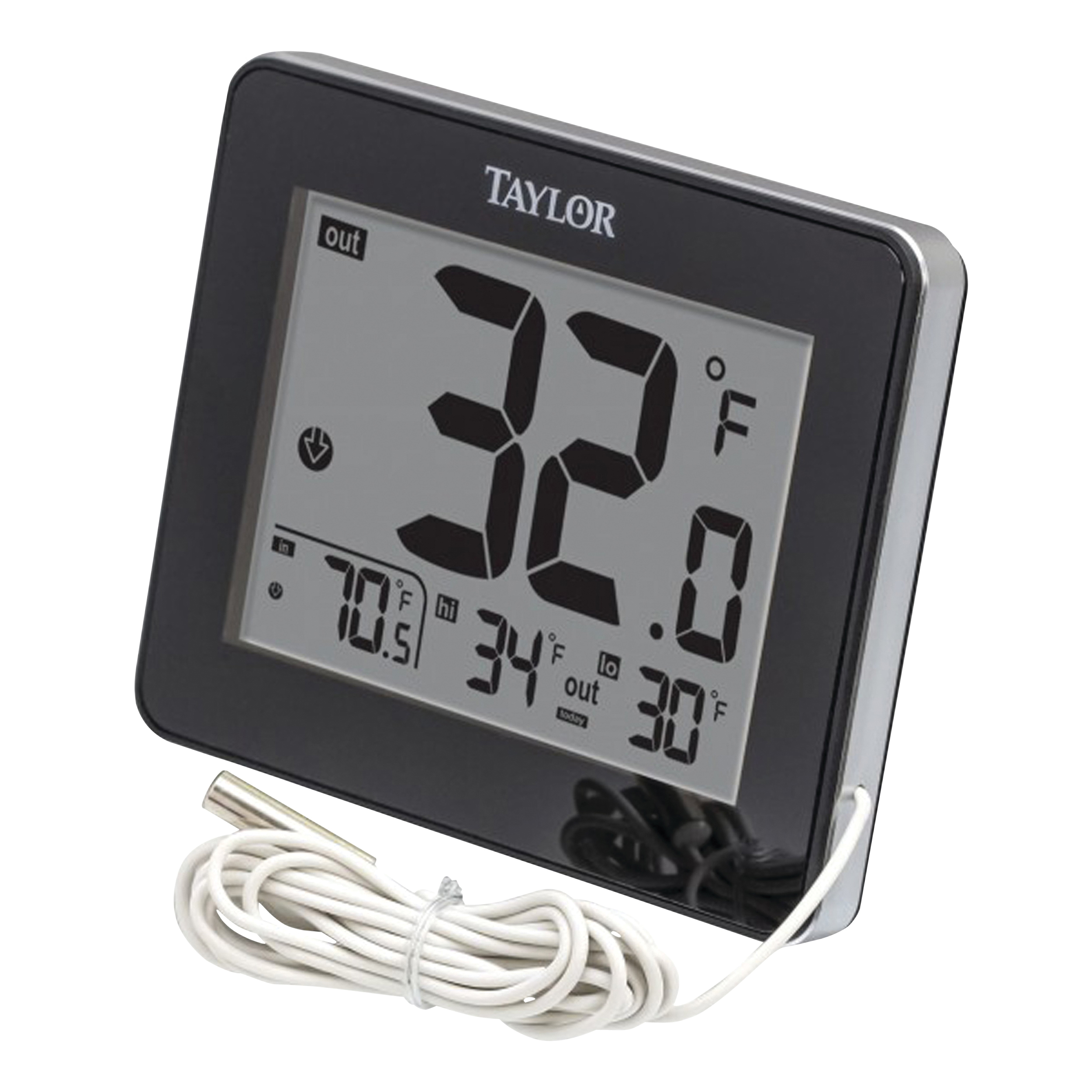 Picture of Taylor 1710 Thermometer, 2.94 in W x 2.13 in H Display, Plastic Casing