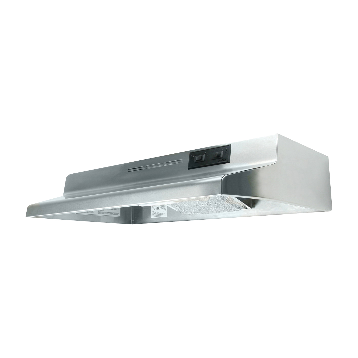 Picture of Air King Advantage AD AD1308 Range Hood, 180 cfm, 2 Fan, 30 in W, 12 in D, 6 in H, Cold Rolled Steel