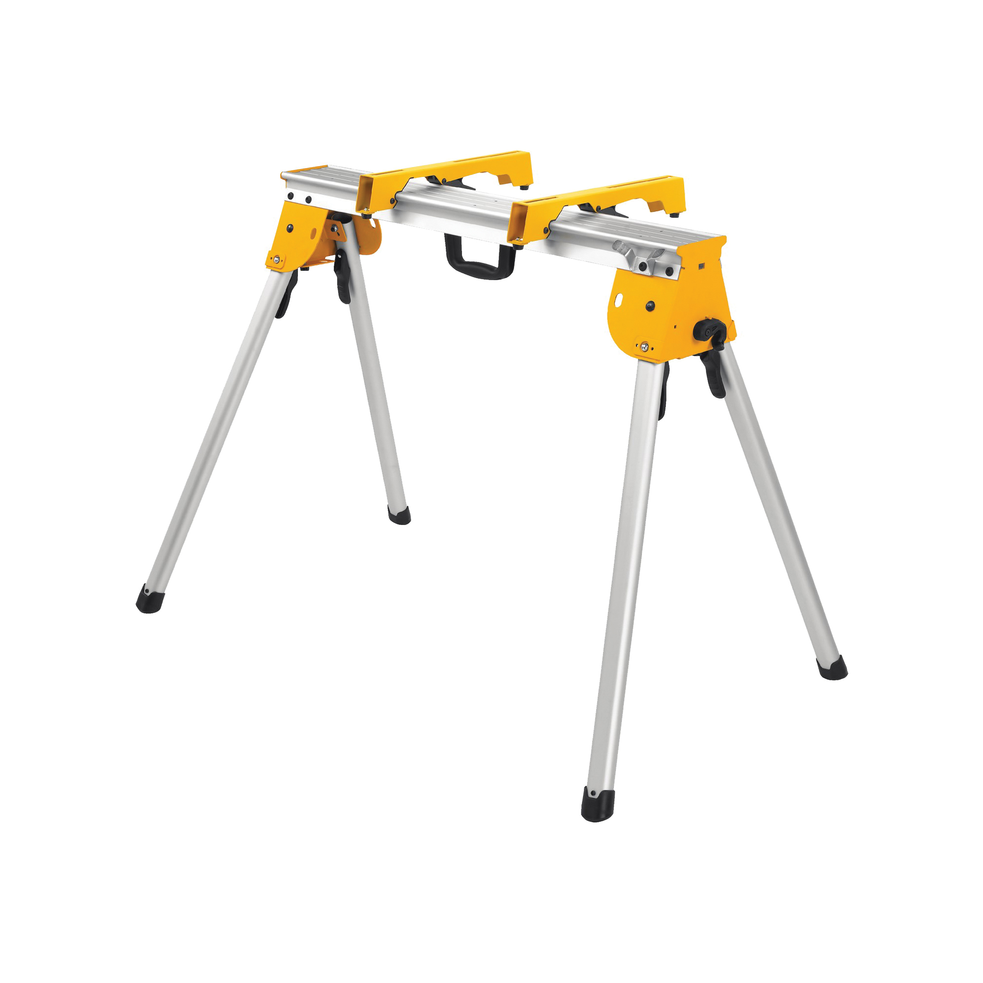 Picture of DeWALT DWX725B Work Stand with Miter Saw Mounting Bracket, 1000 lb, 36 in W Stand, 32 in H Stand, Aluminum